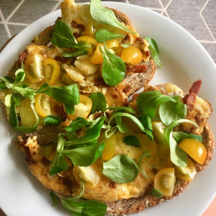 Aardappel-brunch-tortilla: lekkere restjestortilla voor op een brakke ochtend. Heerlijk op een simpel plakje brood met wat sla!