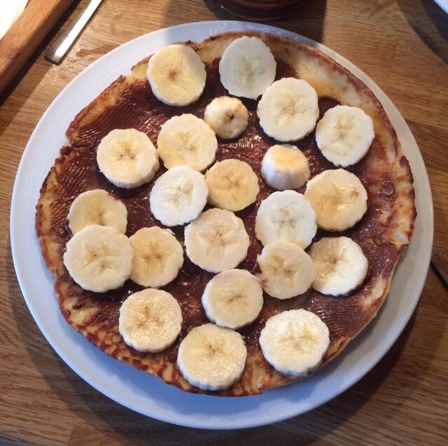 American pancakes: een guilty pleasure met Nutella en banaan. Must try!